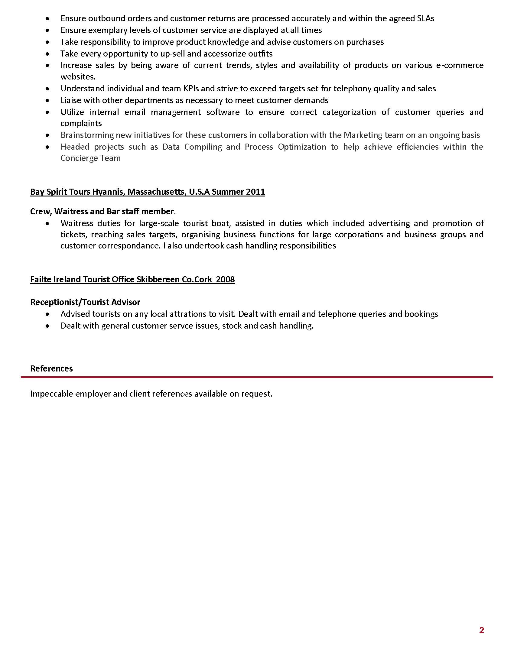 bartender resume sle resume no experience sales no