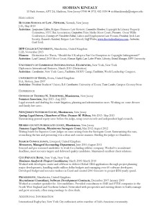 Siobhan Kinealy Resume June 2014