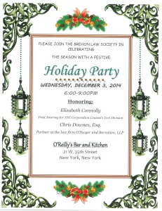 'Holiday Party 12-3-14